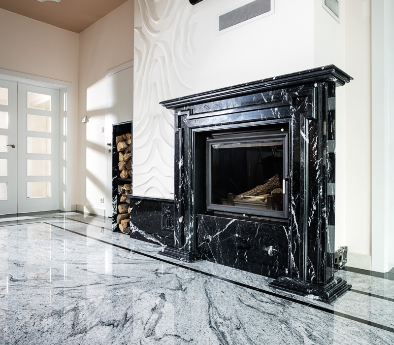 Salon - Nero Marquina, Viscount White